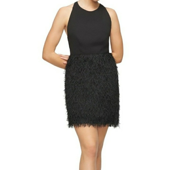 Fame & Partners Dresses & Skirts - Fame & Partners Black Fringe Dress